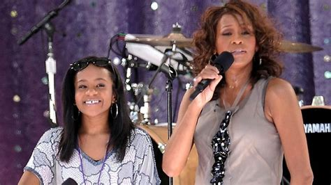 whitney houston and her daughter whitney s daughter doing better the courier mail