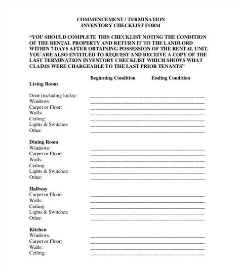 checklist forms templates inventory checklist template 24 free word pdf