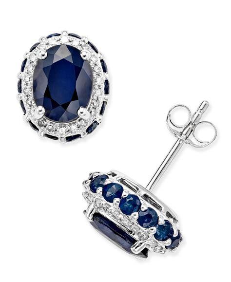 Blue Safir Sapphire 5 5ct blue sapphire 3 7 8 ct t w and white sapphire 1 5 ct