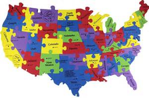 united states america map puzzle fish of the united states of america puzzle tin
