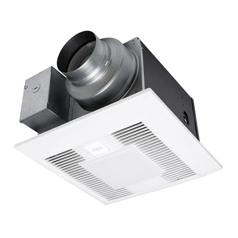 panasonic exhaust fan with light panasonic whisper green select 50 80 110 cfm ceiling