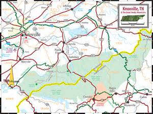 knoxville great smoky mountains national park tn map
