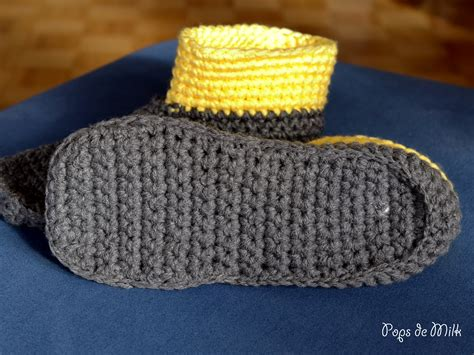 crochet slippers with soles crochet slipper boots pops de milk