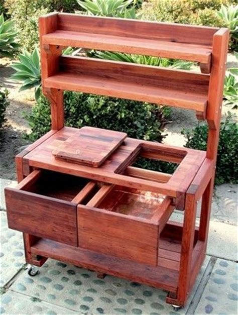 inexpensive potting bench 17 best images about gar benches on pinterest