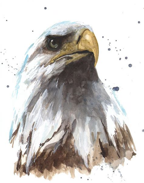 watercolor tattoo eagle watercolor eagle painting by alison fennell