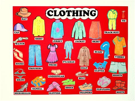 clothing vocabulary cards for kids vocabulary files for children the clothes
