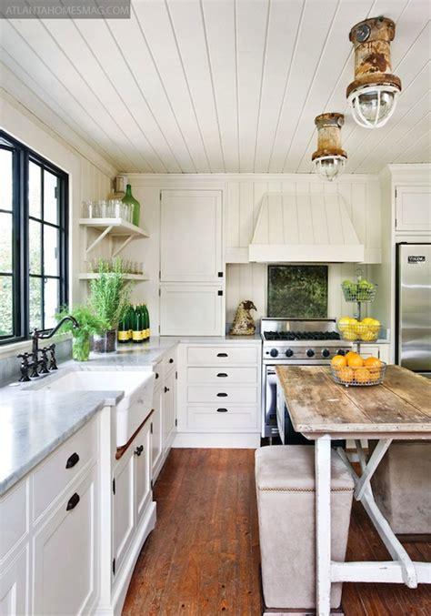 salvaged wood kitchen island cottage kitchen atlanta