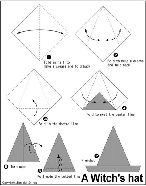 making origami hats origami a witch s hat instructions easy origami
