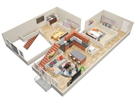 2 bedroom with loft house plans one bedroom log cabin plans with loft studio design