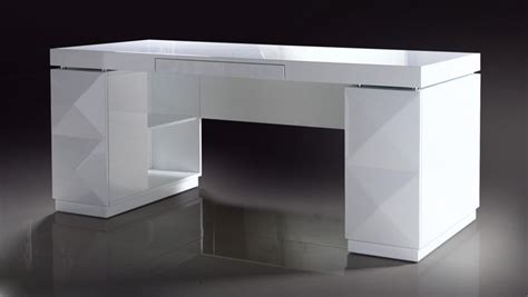 White Modern Desks 206 White Lacquer Modern Desk