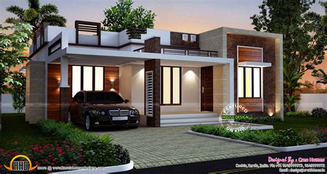 Small Home Design One Floor Designs Homes Design Single Story Flat Roof House Plans