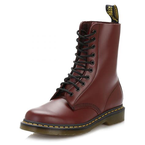 boot eyelets dr martens 1490z 10 eyelets leather womens boots