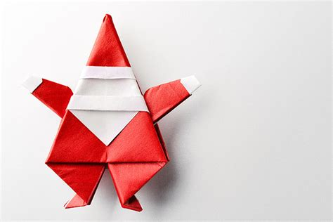 Origami Santa - top 15 paper folding or origami crafts for