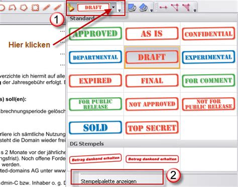 Word Vorlage Dateiendung Eigenen Stempel In Pdf Xchange Viewer