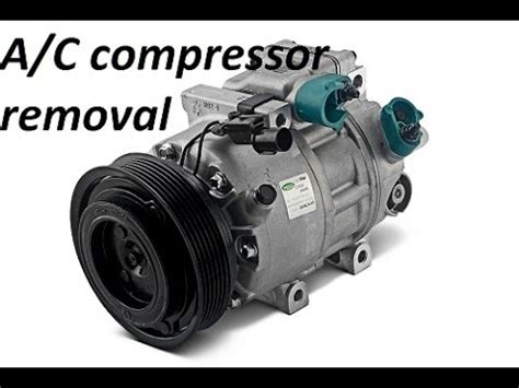 how to remove the a c compressor on vw jetta mk5 ac compressor youtube bmw e46 m52tu m54 engine a c compressor removal youtube