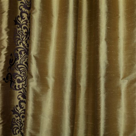 gold silk drapes classic rowena gold dust silk curtains panel