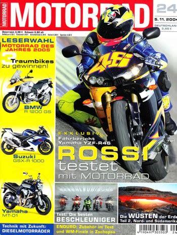 Motorrad Versand 24 by Motorradzeitungen Testberichte Gebrauchte