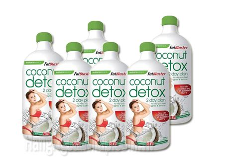 Fatblaster Coconut Detox 2 Day Plan Concentrate 750ml by Nước Uống Coconut Detox 750ml 2 Day Giảm C 226 N An To 224 N Ch 237 Nh