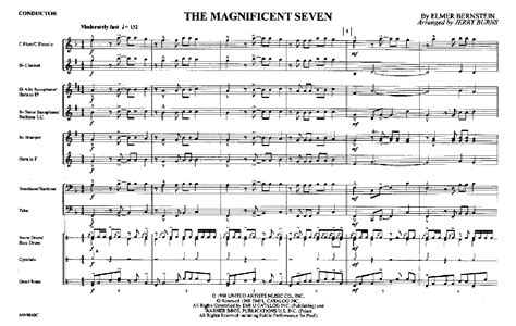 theme song magnificent seven magnificent seven by burns j j w pepper sheet music