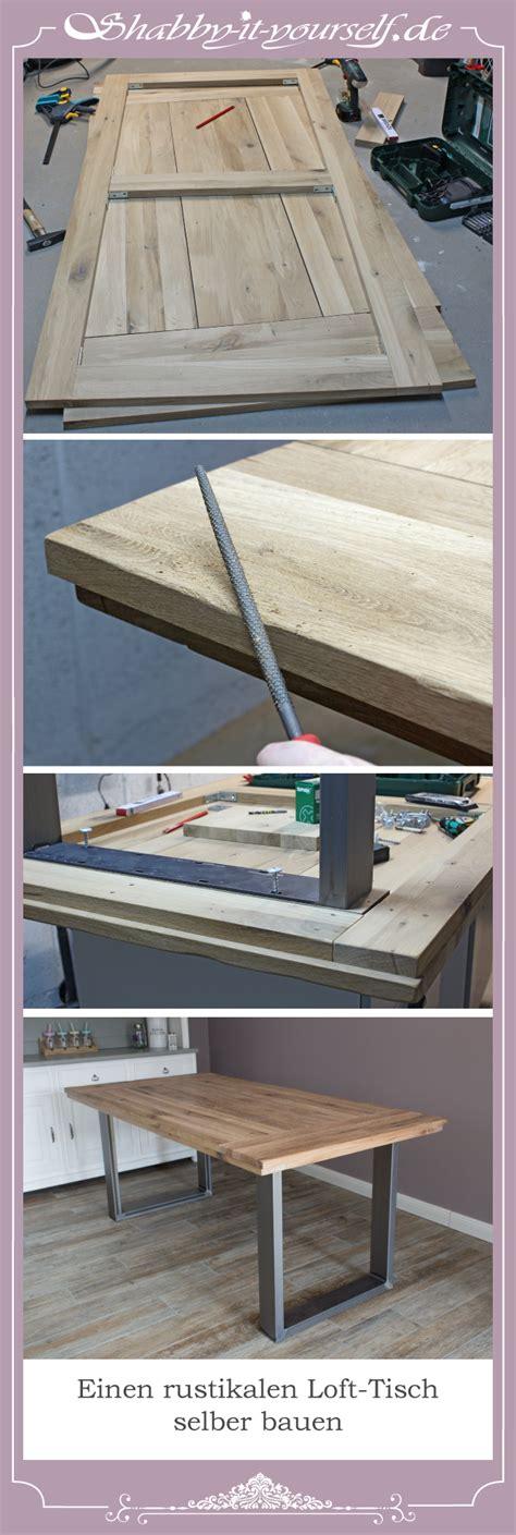 Tisch Aus Arbeitsplatte Bauen by Aus Einer Eichenholz Arbeitsplatte Einen Rustikalen Loft