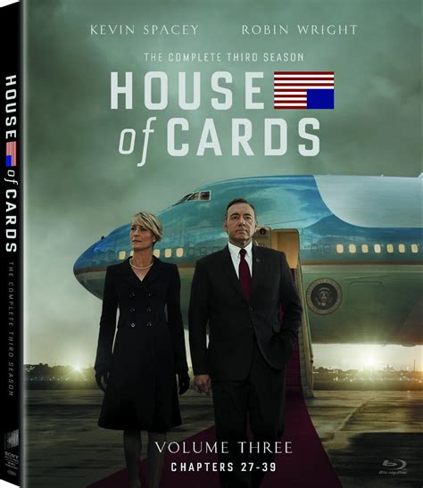 house of cards season 3 house of cards season 3 set to release on blu ray dvd hd report
