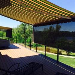 retractable permanent awnings fabric awnings and patio