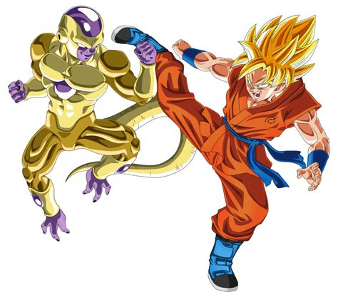 Goku Vs Frieza gold frieza vs ssj goku by dragonballaffinity on deviantart