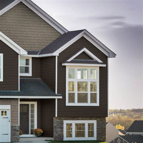 exterior grey georgia pacific vinyl siding color design ideas with tile roof and gable roof georgia pacific vinyl siding exterior traditional with