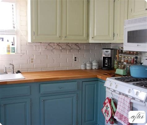 exles of painted kitchen cabinets one exle of kitchen cabinets painted in two colors that