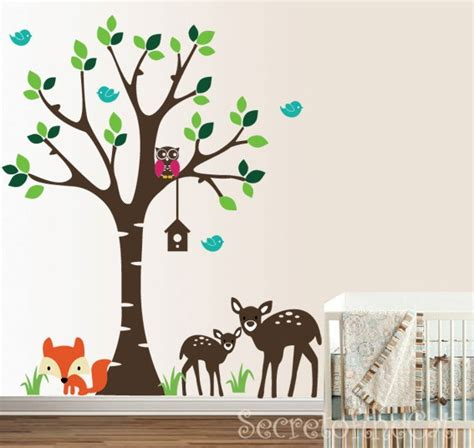 Forest Nursery Wall Decals Forest Wall Decals 2017 Grasscloth Wallpaper