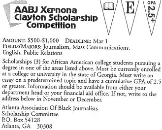 Uncf Mba Scholarship by Clayton Competition