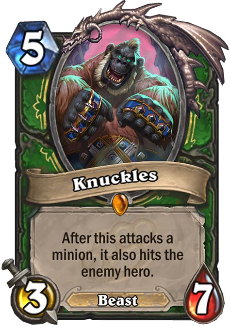 knuckles hearthstone card hearthstone top decks