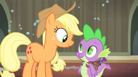 my little pony spike and applejack image spike offering applejack help s4e06 png my