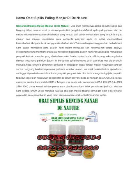 Obat Sipilis Denature Di Bandung 1 nama obat sipilis paling manjur di de nature