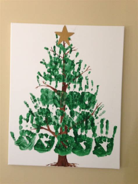 handprint christmas tree things i ve done pinterest