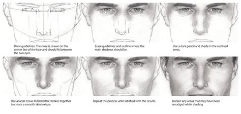 sketchbook shading tutorial how to draw a nose step by step like sketch