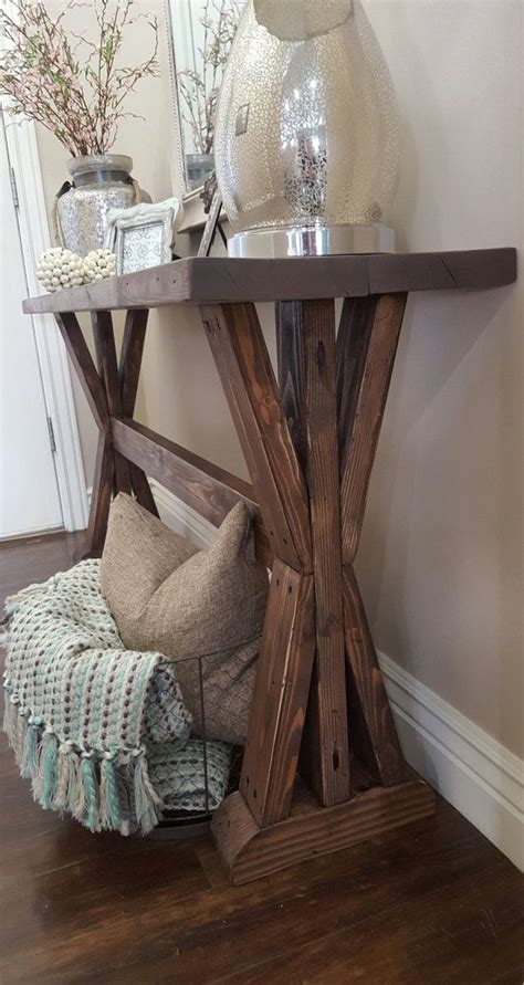 rustic farmhouse entry table rustic farmhouse entryway table by modernrefinement on