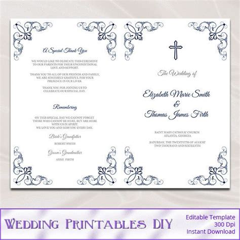 Catholic Church Wedding Booklet Template Mini Bridal Catholic Wedding Template Mass Booklet
