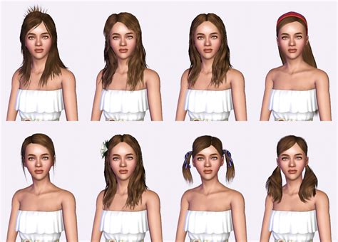 sims 3 basegame clothes and hair oneeuromutt