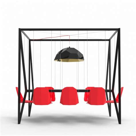 swing table swing table with swinging chairs by duffy home