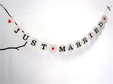 Just Married Girlande by Just Married Hochzeitsgirlande Renna Deluxe