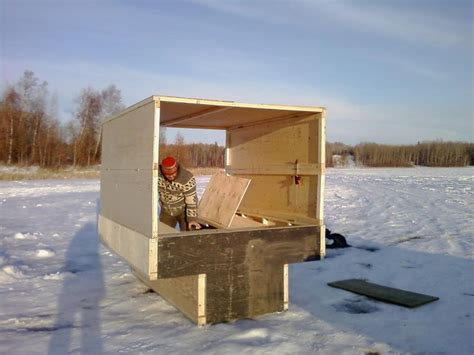 portable ice house plans portable ice fishing shanty plans