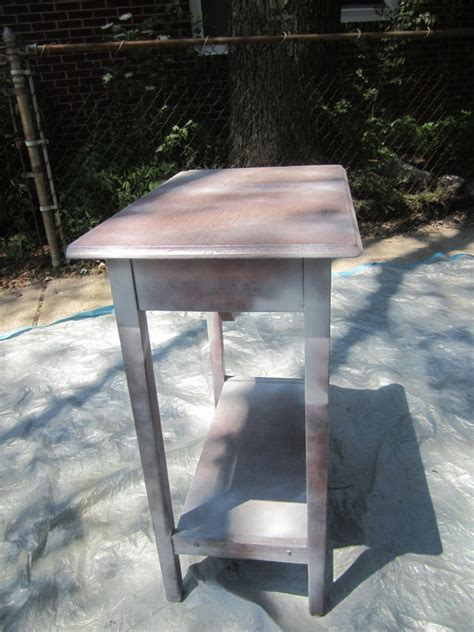 spray painting end tables transforming an end table with spray paint daily
