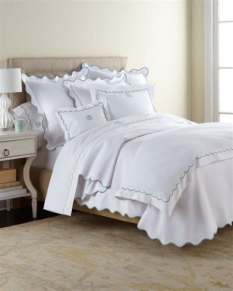 matouk coverlet matouk scallops bedding 350tc sheets malibu mart