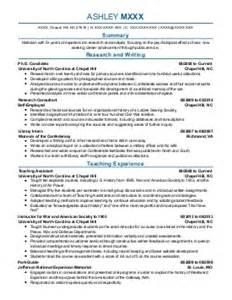 research resume exles social sciences resumes