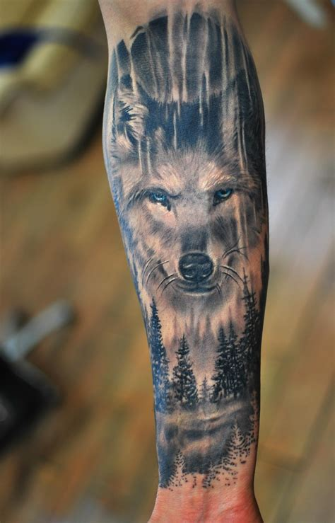wolf tattoo forearm идеальное тату tatoo24 sleeve tattoos