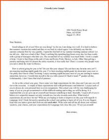 how to write a friendly letter friendly letter exle jpg