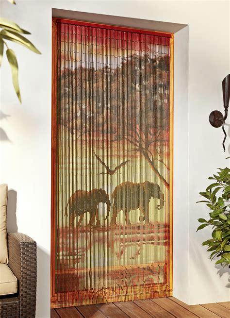 vorhang aus bambus bambus vorhang quot elefanten quot wind und sonnenschutz bader