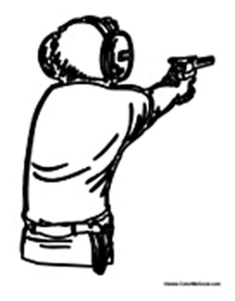 gun colouring pages