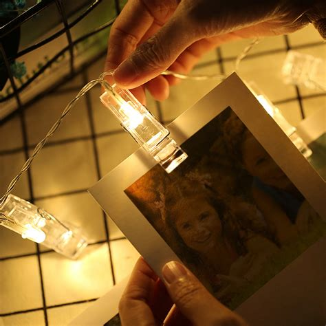 led string light photo clip holder bulb wedding book